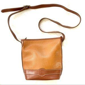 Vintage 90s Esprit Pebbled Leather Crossbody Bag